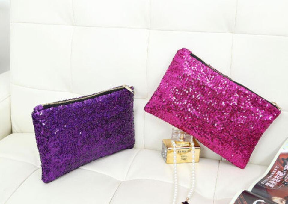 Sequins Dazzling Glitter Bling Clutch Handbag Evening Bag Wr