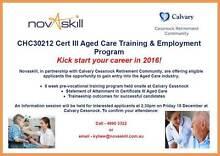 Aged Care Training and Employment Program Cessnock Cessnock Area Preview