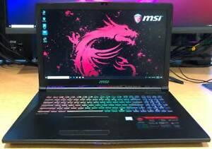 GTX 1066 MSI 17 inch Gaming Laptop i7 7700HQ 128G SSD 1TB 16G Ram