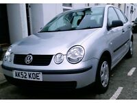 VW Polo 1.9 SDI E 5dr Air Con. Just Passed MOT. Full Service History. £1150