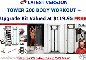 DOOR GYM TOWER 200 BODY BY JAKE STRENGTH RESISTANCE TRAINING KIT DELUXE VERSION