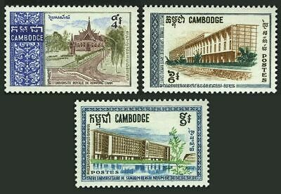Cambodia 188-190, lightly hinged.Michel 231-233. 1968:Royal University, Kompong.