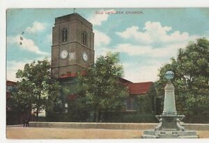 London, Old Chelsea Church Charles Martin Postcard, B183
