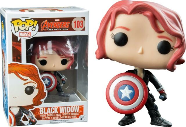 Black Widow w/Shield Avengers 2 Pop! Vinyl Figure #103 GS Exclusive (No Sticker)