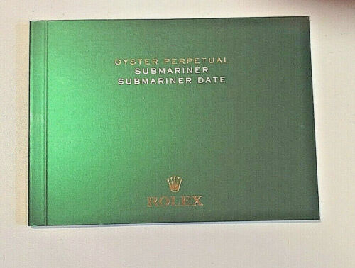 ROLEX SUBMARINER BOOKLET / BROCHURE. OPERATING INSTRUCTION MANUAL.