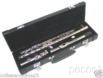NEW 2015 SILVER INTERMEDIATE CONCERT BAND FLUTE WITH YAMAHA PADS on Rummage