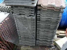 Grey concrete 49'ers roof tiles
