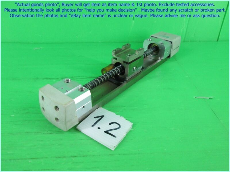 Linear stage actuator, Ball screw pitch 6mm. travel 100mm. as photo sn:A.