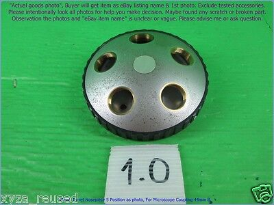 Nikon Turret Nosepiece 5 Hole As Photo For Microscope Coupling 44mm. B.