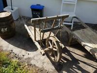 Vintage French Large Wheelbarrow