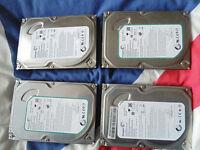 Four various format 500gig hard drives