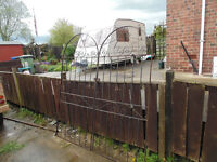 Pair of Arched top Wrought Iron 6ft gates