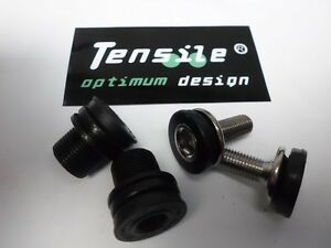 Tensile-Crank-Retaining-Bolts-Pr-8mm-15mm-Tuf-Lite-Chromo-Steel-Chrome-Black-NEW