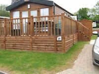 Luxury holiday lodge with lake views situated in Norfolk