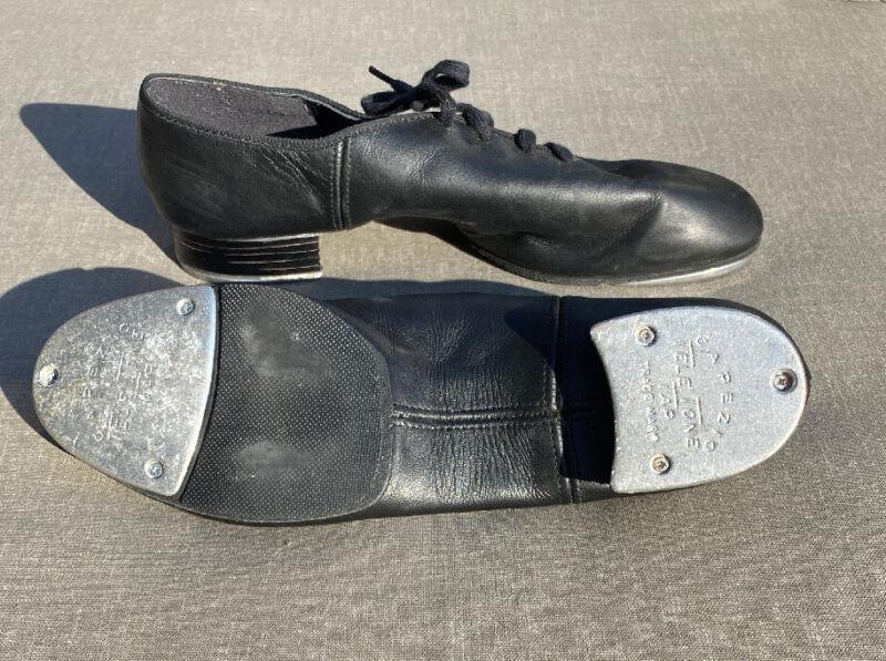 Capezio Womens Black Tap Shoes - Tele-Tone  Size 10