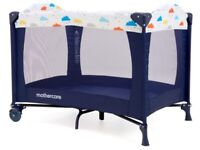 Mothercare Classic Travel Cot - Clouds (and additional padded mattress)