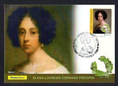Italia 2018 : Elena Lucrezia Cornaro Piscopia - Cartolina Ufficiale Poste It.