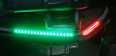 """Bow LED 12"""" Submersible Green Red Navigation Light Waterproof Marine Boat 1' 12"""