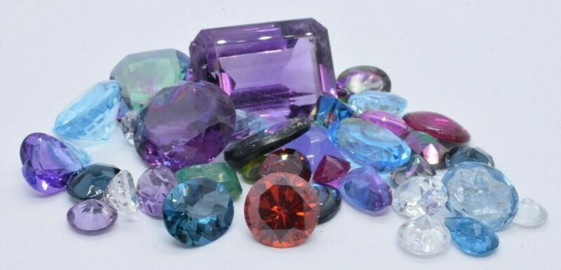 Mixed Lot Gemstones From Gold & Silver Jewelry Appx 100ct All Types #5
