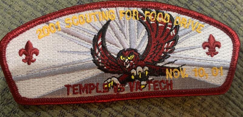MINT CSP Cradle of Liberty Council SA-16:1 Temple VA Tech 2001 $50 Value