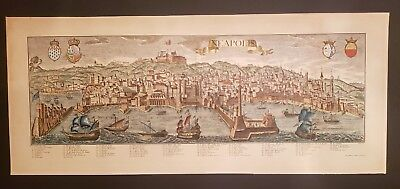 Georg Balthasar Probst Of NEAPOLIS Hand Colored Antique map