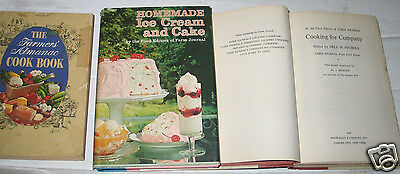 Lot 3 Vintage Farmers Almanac Farm Journal Ice Cream Cake Company 1967 1968 1972
