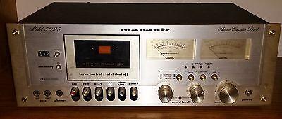 Vintage Marantz Model 5025 Stereo Cassette Deck w/ owner's manual - working