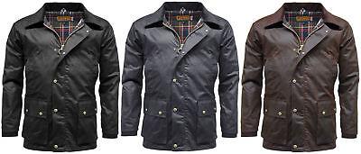 Herren Game Barker Wachs Jacke mit Abnehmbarer Kapuze Premium Antik Gewachste