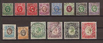 SOMALILAND 1912-19 SG 60-72 Fine Used Cat £550