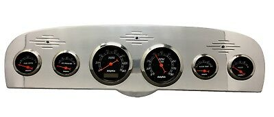 1961 1962 1963 1964 1965 1966 Ford Truck 6 Gauge Dash Cluster Black