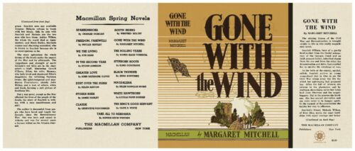 Facsimile Dust Jacket ONLY Margaret Mitchell Gone With the Wind 1st Edition 1936