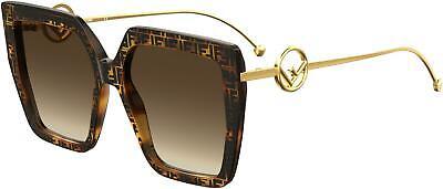 NEW Fendi FD 0410 Sunglasses 0086 Dark Havana 100% AUTHENTIC