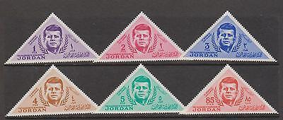 JORDAN 1964 Pres Kennedy triangular set nhm