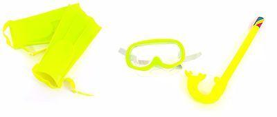 Set Sub Maschera + Boccaglio Pinne Colorato Bambini Bimbi Nuoto Mare Estate dfh