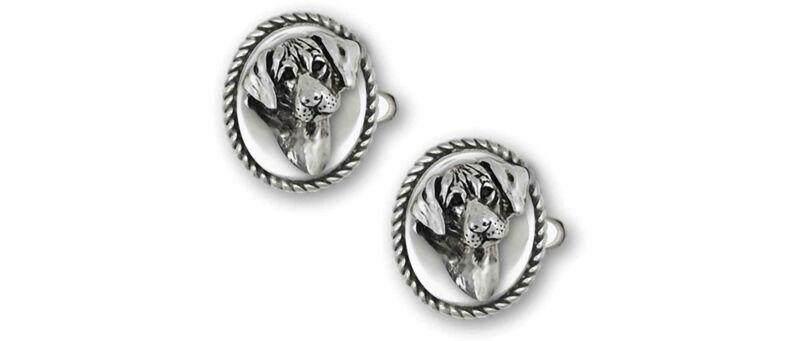 Rhodesian Ridgeback Jewelry Sterling Silver Handmade Rhodesian Ridgeback Cufflin