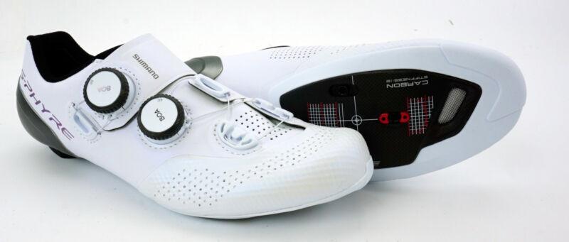 Shimano SH-RC9W S-Phyre Clipless Shoes W EUR 40, US 7.8 Carbon 3 Bolt White Road