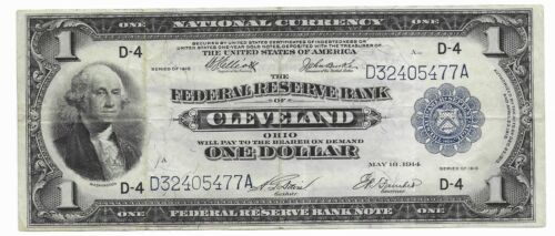 Fr#720 $1 National Currency -CLEVELAND- OHIO  SERIES OF 1918