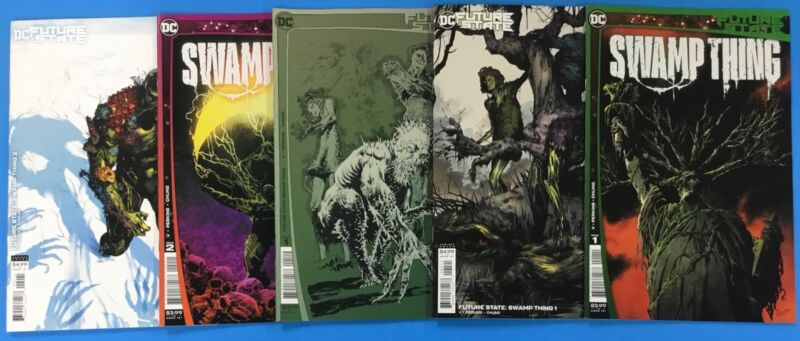 5x SWAMP THING comic # 1 & 2 ~ 1st 2nd Print A B VARIANT 1st App ~ FUTURE STATE