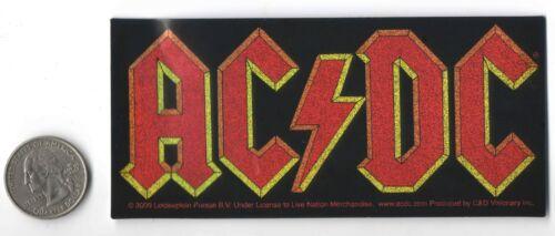 "AC DC Logo Band  Glitter Style Peel & Stick Sticker 4 7/8"" X 2 1/4 """