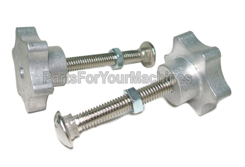 """(2) BOLT/STAR KNOB SETS FOR SQUEEGEE ASSEMBLY, 3/8""""-16, WALK BEHIND SCRUBBERS"""