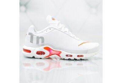 Nike Air Max Plus TN Mercurial White Metallic Silver Orange Running AQ1088-100