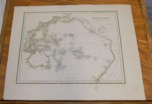 Early 1800s Antique Map///PACIFIC OCEAN  ///AUSTRALIA