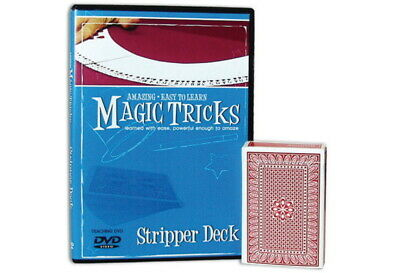 Amazing Easy to Learn Magic Tricks DVD w/ Stripper Deck Dvd Amazing Magic Tricks