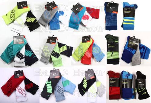Nike Boys Youth Performance Cushioned Crew Socks 3 Pack size 10C-3Y,3Y-5Y,5Y-7Y