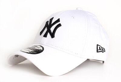NEW ERA MENS 9FORTY BASEBALL CAP.GENUINE NEW YORK YANKEES WHITE ADJUSTABLE HAT