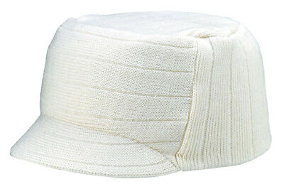 Square Rib knitted short visor Beanie - -