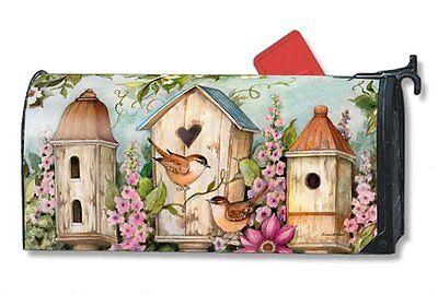 Magnet Works Mailwraps Cottage Birdhouse Original Magnetic Mailbox Wrap Cover