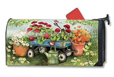 Magnet Works Mailwraps Geraniums by the Dozen Wagon Magnetic Mailbox Wrap Cover