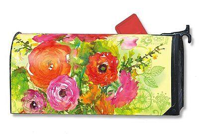 Magnet Works Mailwraps Summer Blossoms Original Magnetic Mailbox Wrap Cover
