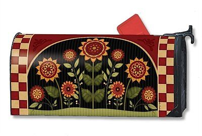 Magnet Works Mailwraps Primitive Sunflowers Original Magnetic Mailbox Wrap Cover